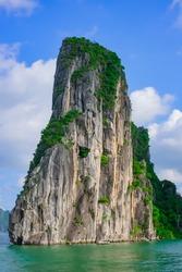 Mountain island in Halong Bay, Vietnam, Southeast Asia