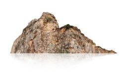 mountain isolated on white background