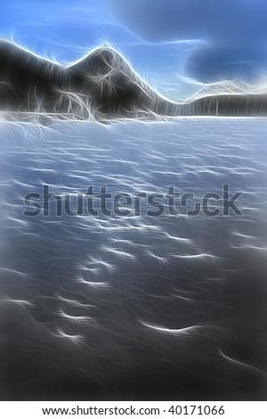 Mountain lake fractal