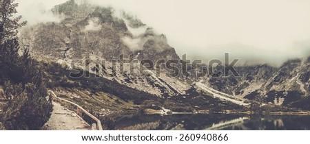 Mountain lake in a High Tatras, Slovakia