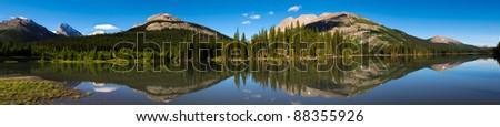Mountain lake in Kananaskis country Alberta Canada in summer