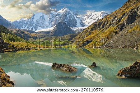 Mountain lake, Russia, Siberia, Altai mountains, Chuya ridge. #276110576