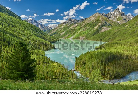 Mountain lake, Russia West Siberia, Altai mountains, Katun ridge. #228815278
