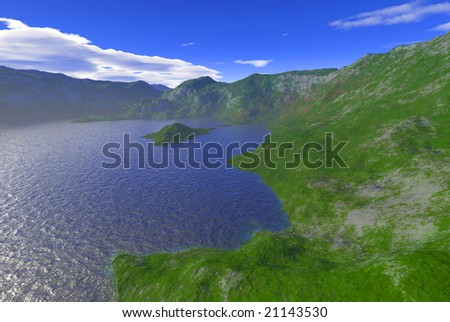mountain lake scenery