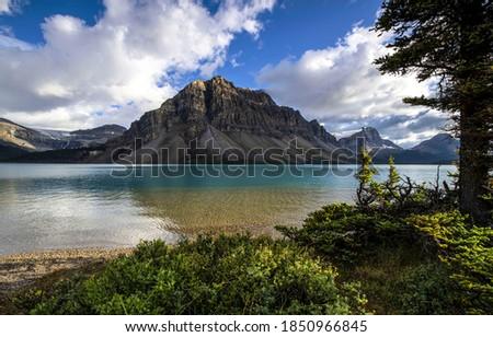 Mountain lake water landscape. Lake in mountains. Mountain lake landscape. Mountain lake water view