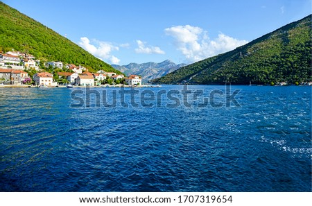 Mountain lake water surface landscape. Mountain lake water. Mountain lake landscape. Lake in mountains