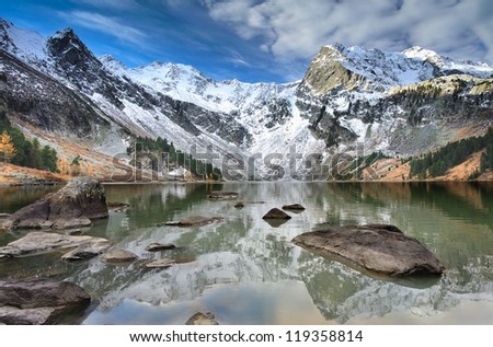 Mountain lake, West Siberia, Altai mountains