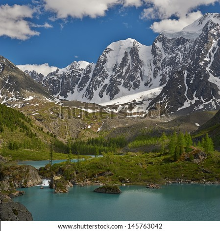 Mountain lake, West Siberia, Altai mountains, Chuya ridge.