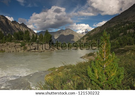 Mountain lake, West Siberia, Altai mountains, Katun ridge