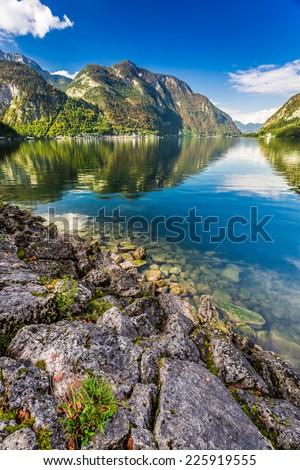 Mountain lake with mountain views #225919555