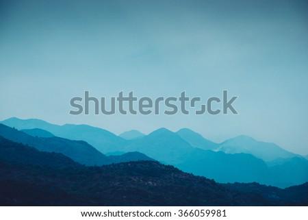 mountain landscape blue...