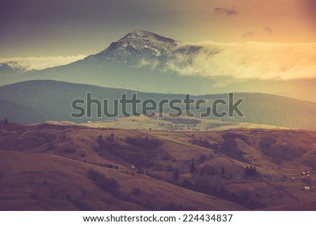 mountain landscape. filtered...