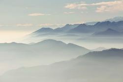 Mountain Landscape From Mottarone Mount, Italy