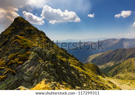 Mountain landscape in a  summer day