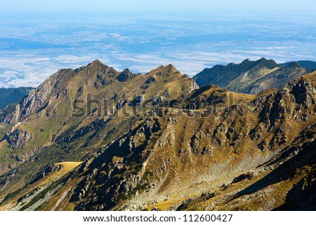 Mountain landscape in a sunny summer day