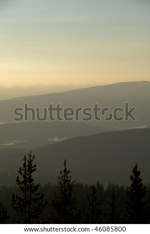 Mountain landscape in McCall, Idaho