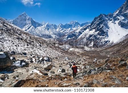 Mountain landscape in Sagarmatha National Park, Nepal