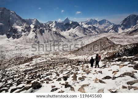Mountain landscape in Sagarmatha National Park, Nepal Himalaya