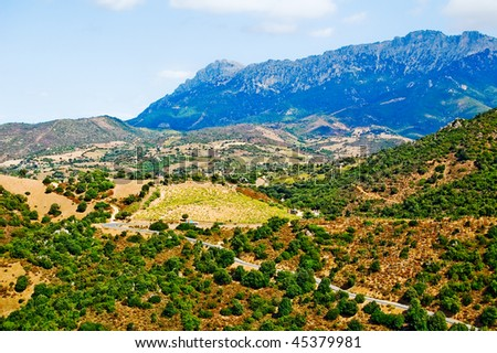 Mountain landscape in sardegna