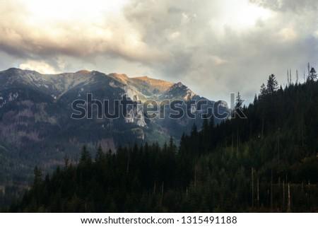 Mountain landscape in Tatras National Park in Poland  Zdjęcia stock ©