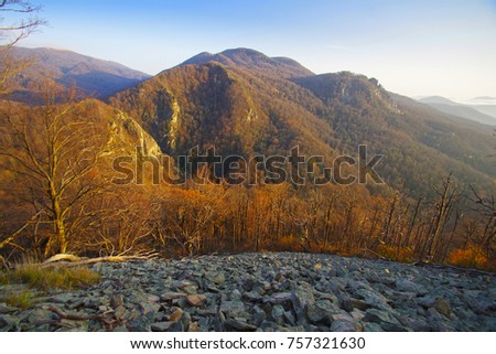 mountain landscape late fall