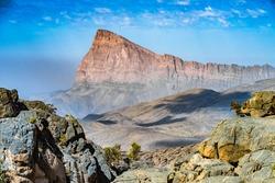 Mountain landscape near Jebel Shams, Sultanate of Oman