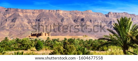 Photo of  Mountain landscape, Oasis of the Draa Valley, Morocco