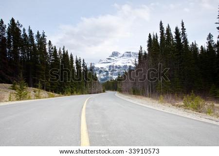 Mountain landscape of Banff National Park in Alberta, Canada