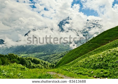 mountain landscape of the northern Caucasus. Russia