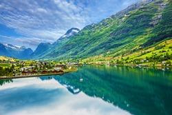 Mountain landscape, Olden, Norway