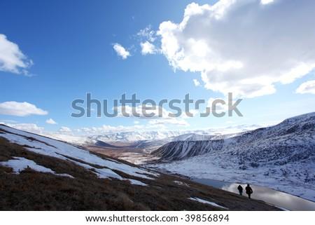 mountain landscape on altai in siberia