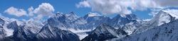 Mountain landscape, panorama, Belukha Mountain, Altai