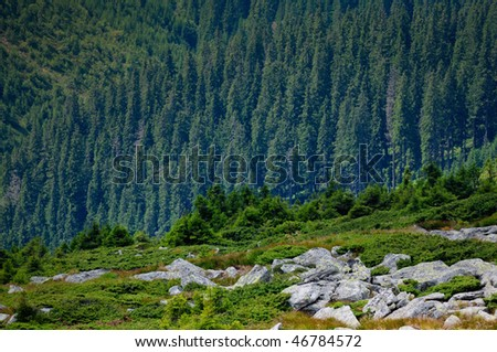 Mountain landscape. Wild untouched nature mountains - stock photo