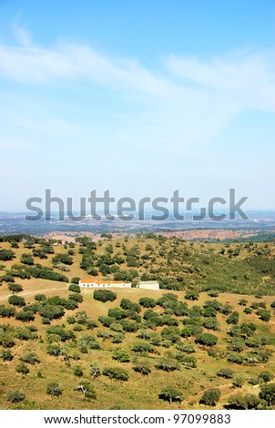 Mountain of Portel, south of Portugal - stock photo