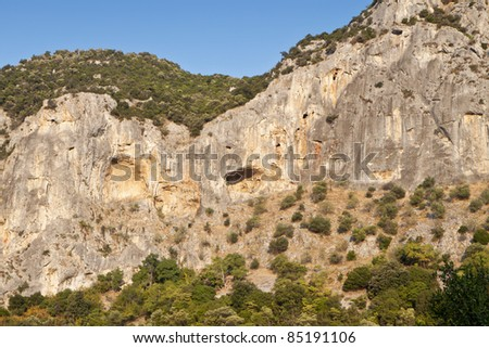 Mountain Olympous and the 'Tempi' canyon in Greece