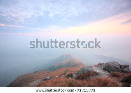 Mountain Over the Sunset