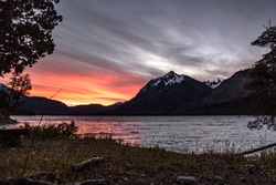 mountain patagonia argentina landscape sunset