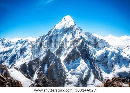 Mountain peak. Everest. National Park, Nepal. #383144029