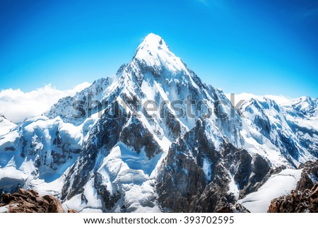 Mountain peak. Everest. National Park, Nepal. #393702595