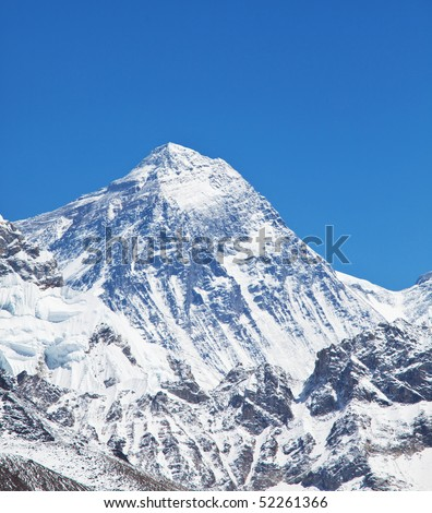 Mountain Peak Of Mount Everest Stock Photo 52261366 : Shutterstock
