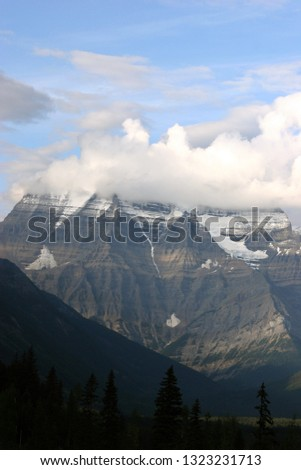 Mountain Peak With Clouds