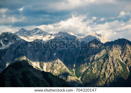 Mountain peaks #704320147