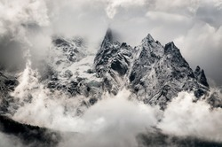 Mountain peaks after the storm