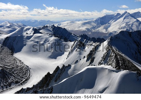 Mountain Peaks - Himalaya, Mountain Climb- Stok Kangri (6,150m / 20,080ft), India - stock photo