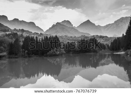 mountain, peaks landscape, mountain isolated #767076739