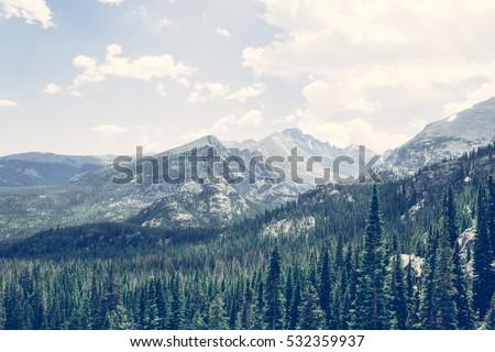 Mountain peaks// Rocky Mountain National Park, Colorado. June 2016, by Sharon Kilon Han
