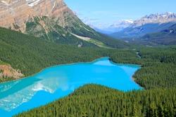 Mountain Peyto lake (Banff National park. Alberta. Canada)