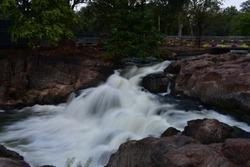 Mountain portion in Hogenakkal Falls