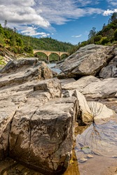 Mountain Quarries Railroad Bridge completed in 1912 ~ it crosses the American River in the foothills of the Sierra Nevadas in Auburn, California