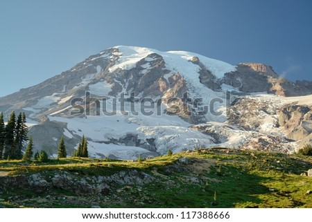 mountain rainier national park, washington, usa